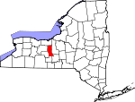 Map of New York showing Seneca County - Click on map for a greater detail.
