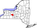 Map of New York showing Yates County - Click on map for a greater detail.