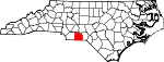 Map of North Carolina showing Anson County - Click on map for a greater detail.