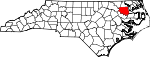 Map of North Carolina showing Bertie County - Click on map for a greater detail.