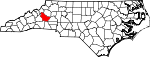 Map of North Carolina showing Burke County - Click on map for a greater detail.