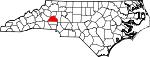Map of North Carolina showing Catawba County - Click on map for a greater detail.