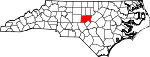 Map of North Carolina showing Chatham County - Click on map for a greater detail.