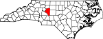 Map of North Carolina showing Davidson County - Click on map for a greater detail.