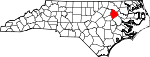 Map of North Carolina showing Edgecombe County - Click on map for a greater detail.