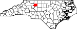 Map of North Carolina showing Forsyth County - Click on map for a greater detail.