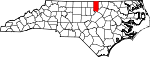 Map of North Carolina showing Granville County - Click on map for a greater detail.