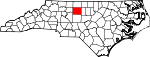 Map of North Carolina showing Guilford County - Click on map for a greater detail.