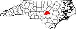 Map of North Carolina showing Harnett County - Click on map for a greater detail.