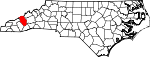 Map of North Carolina showing Haywood County - Click on map for a greater detail.