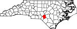 Map of North Carolina showing Hoke County - Click on map for a greater detail.