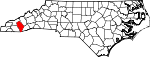 Map of North Carolina showing Jackson County - Click on map for a greater detail.