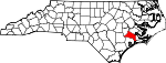 Map of North Carolina showing Jones County - Click on map for a greater detail.