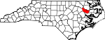 Map of North Carolina showing Martin County - Click on map for a greater detail.