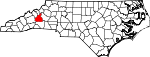 Map of North Carolina showing McDowell County - Click on map for a greater detail.