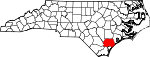 Map of North Carolina showing Pender County - Click on map for a greater detail.