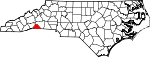 Map of North Carolina showing Polk County - Click on map for a greater detail.