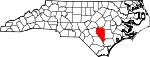 Map of North Carolina showing Sampson County - Click on map for a greater detail.
