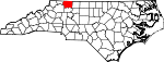 Map of North Carolina showing Surry County - Click on map for a greater detail.