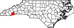 Map of North Carolina showing Transylvania County - Click on map for a greater detail.
