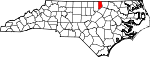 Map of North Carolina showing Vance County - Click on map for a greater detail.