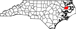Map of North Carolina showing Washington County - Click on map for a greater detail.