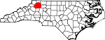 Map of North Carolina showing Wilkes County - Click on map for a greater detail.
