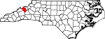 Map of North Carolina showing Yancey County - Click on map for a greater detail.