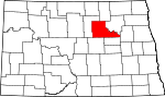 Map of North Dakota showing Benson County - Click on map for a greater detail.