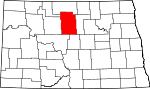 Map of North Dakota showing McHenry County - Click on map for a greater detail.