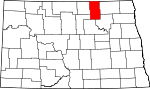 Map of North Dakota showing Towner County - Click on map for a greater detail.
