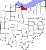 Map of Ohio showing Erie County - Click on map for a greater detail.
