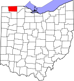 Map of Ohio showing Fulton County - Click on map for a greater detail.