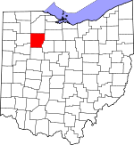 Map of Ohio showing Hancock County - Click on map for a greater detail.