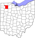 Map of Ohio showing Henry County - Click on map for a greater detail.