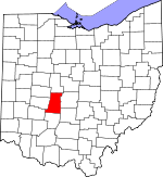 Map of Ohio showing Madison County - Click on map for a greater detail.
