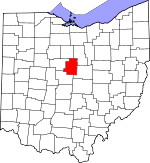Map of Ohio showing Morrow County - Click on map for a greater detail.