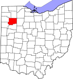 Map of Ohio showing Putnam County - Click on map for a greater detail.