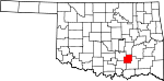 Map of Oklahoma showing Coal County - Click on map for a greater detail.
