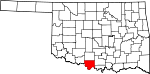 Map of Oklahoma showing Jefferson County - Click on map for a greater detail.