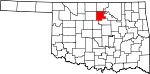 Map of Oklahoma showing Noble County - Click on map for a greater detail.