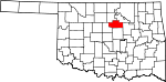 Map of Oklahoma showing Payne County - Click on map for a greater detail.