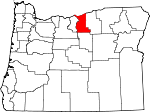 Map of Oregon showing Gilliam County - Click on map for a greater detail.