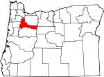 Map of Oregon showing Marion County - Click on map for a greater detail.