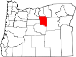 Map of Oregon showing Wheeler County - Click on map for a greater detail.