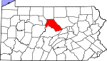 Map of Pennsylvania showing Clinton County - Click on map for a greater detail.