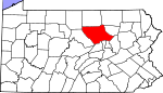 Map of Pennsylvania showing Lycoming County - Click on map for a greater detail.