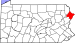 Map of Pennsylvania showing Pike County - Click on map for a greater detail.
