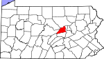 Map of Pennsylvania showing Union County - Click on map for a greater detail.