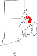 Map of Rhode Island showing Bristol County - Click on map for a greater detail.